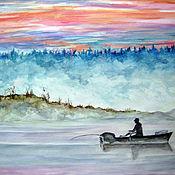 Картины и панно ручной работы. Ярмарка Мастеров - ручная работа Утренний туман. Handmade.