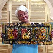 Картины и панно ручной работы. Ярмарка Мастеров - ручная работа Панно-триптих по мотивам Густава  Климта. Handmade.