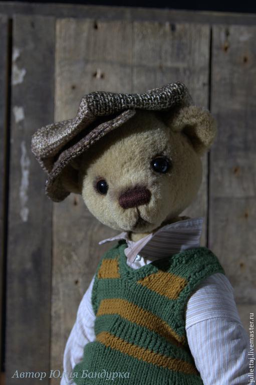 Мишки Тедди ручной работы. Ярмарка Мастеров - ручная работа. Купить Гришка хулиган. Handmade. Бежевый, альпака 100%, шерсть