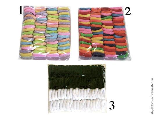 Другие виды рукоделия ручной работы. Ярмарка Мастеров - ручная работа. Купить Резинки для волос (по 80шт.) махровые узкие в упаковках основа. Handmade.