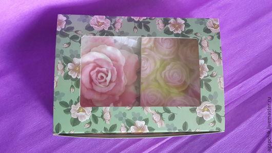 """Мыло ручной работы. Ярмарка Мастеров - ручная работа. Купить Набор мыла """"Розовый"""". Handmade. Разноцветный, розочки, набор мыла"""