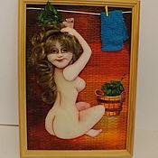 Аксессуары ручной работы. Ярмарка Мастеров - ручная работа Девушка в бане. Handmade.