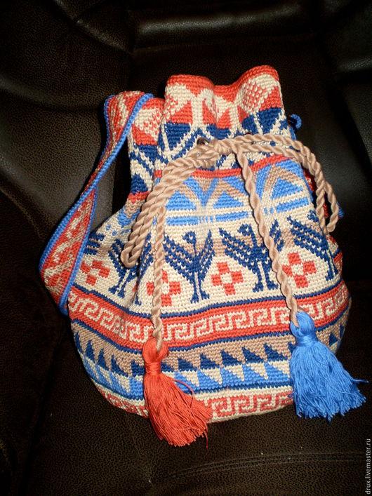 Женские сумки ручной работы. Ярмарка Мастеров - ручная работа. Купить Колумбийская мочила. Handmade. Комбинированный, индейцы, торба, голубой