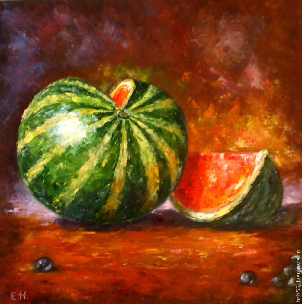 Oil painting Watermelon, Pictures, Zelenograd,  Фото №1
