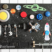 """Куклы и игрушки ручной работы. Ярмарка Мастеров - ручная работа Бизиборд """"Космический"""". Handmade."""