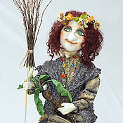 Куклы и игрушки handmade. Livemaster - original item Baba Yaga with the Mandragora. Handmade.