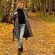 Верхняя одежда ручной работы. Заказать Пальто темно-серое art.SARTA-009a. MUHA (vintagechic). Ярмарка Мастеров. шерсть