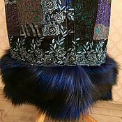 Одежда ручной работы. Ярмарка Мастеров - ручная работа Эксклюзивное пальто с лисой. Handmade.