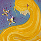 Абстракция ручной работы. Ярмарка Мастеров - ручная работа. Купить Обыкновенное чудо. Handmade. Васильковый, для девочки, красивая девушка