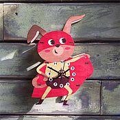 Для дома и интерьера ручной работы. Ярмарка Мастеров - ручная работа Детские настенные часы  Супер пес. Handmade.