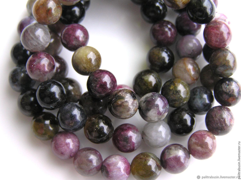 Tourmaline beads smooth ball, Beads1, Tyumen,  Фото №1