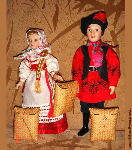 Аксессуары для кукол: короба, лапти, корзина, корзинка, очелье, кепка, полусапожки, бусины, солонка. Все для народной куклы. Кукольные аксессуары ручной работы.