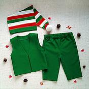 Работы для детей, handmade. Livemaster - original item Elf costume for kids boy Christmas carnival dwarf dwarf. Handmade.