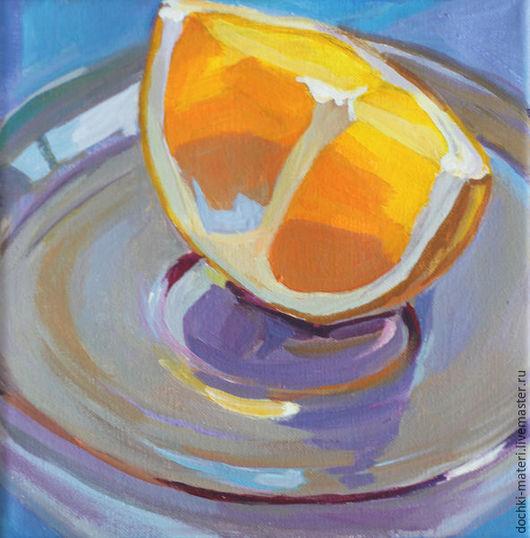 """Натюрморт ручной работы. Ярмарка Мастеров - ручная работа. Купить интерьерная картина """"Апельсиновый фрэш"""". Handmade. Комбинированный, апельсин"""