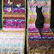 """Пледы ручной работы. Ярмарка Мастеров - ручная работа Комплект накидок на кресло """"Кошка с бабочками""""(пэчворк). Handmade."""