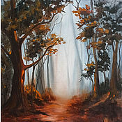 Картины и панно handmade. Livemaster - original item Oil painting Autumn Forest Forest Landscape. Handmade.