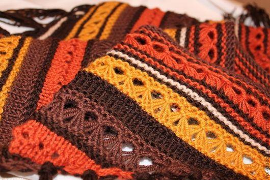 Шали, палантины ручной работы. Ярмарка Мастеров - ручная работа. Купить Мелодия осени Бактус-шарф  (авт.работа). Handmade.