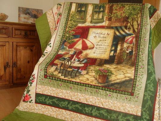 Детская ручной работы. Ярмарка Мастеров - ручная работа. Купить Лоскутное одеяло плед Французcкое кафе. Handmade. Одеяло