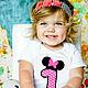 Одежда унисекс ручной работы. Ярмарка Мастеров - ручная работа. Купить Детская футболка на день рождения. Handmade. Белый