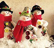 Подарки к праздникам ручной работы. Ярмарка Мастеров - ручная работа Снеговик. Handmade.