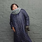 Одежда handmade. Livemaster - original item Coat quilted long dark blue zipper. Art. 1228.. Handmade.