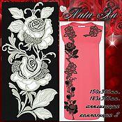 Материалы для творчества handmade. Livemaster - original item Bright roses. Song 2 (applique).. Handmade.