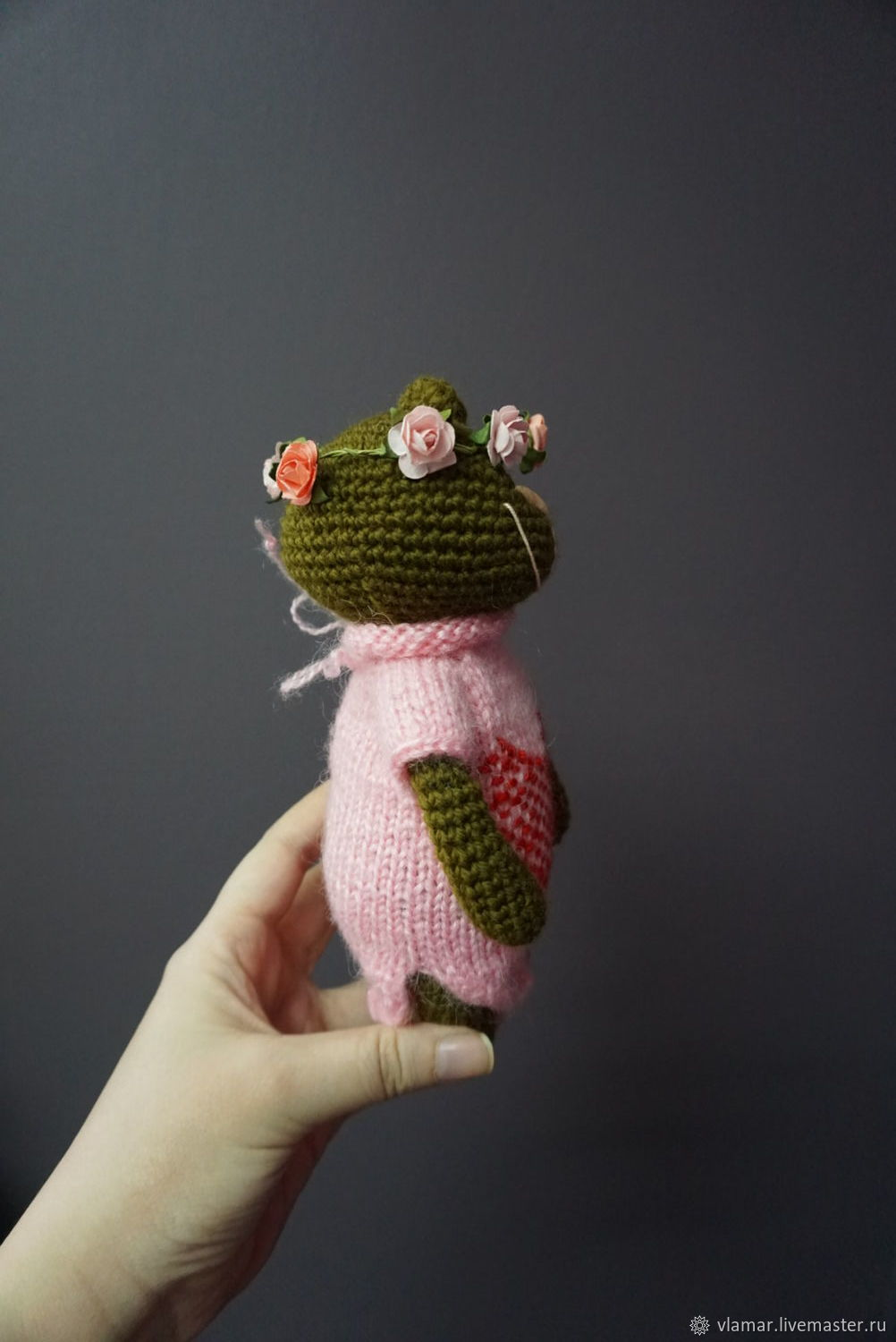Knit Teddy Bear In Wreath Shop Online On Livemaster With Shipping Wrist Pink Order Vlamar