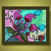 Картины и панно handmade. Livemaster - original item pattern Floral pattern. Handmade.