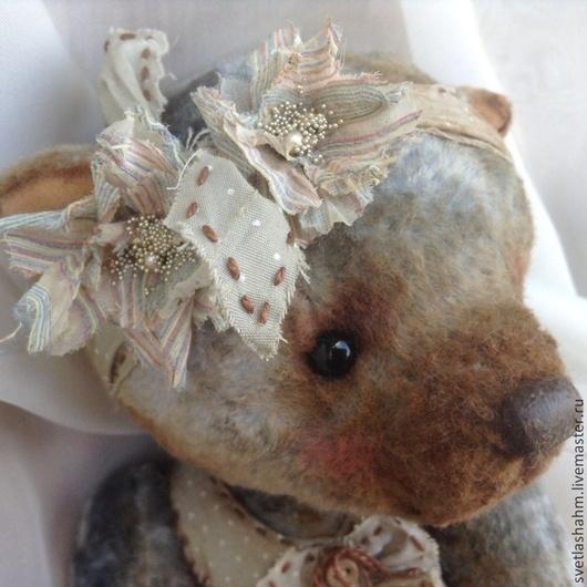 Мишки Тедди ручной работы. Ярмарка Мастеров - ручная работа. Купить Герда. Handmade. Серый, игрушка, глаза стеклянные