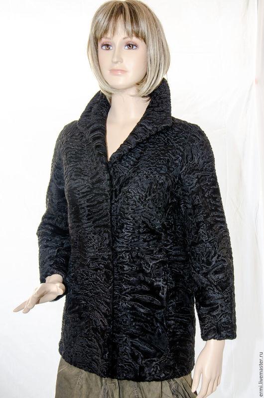 Верхняя одежда ручной работы. Ярмарка Мастеров - ручная работа. Купить Полушубок Свакара черная красавица тепло Африки в холодных краях. Handmade.