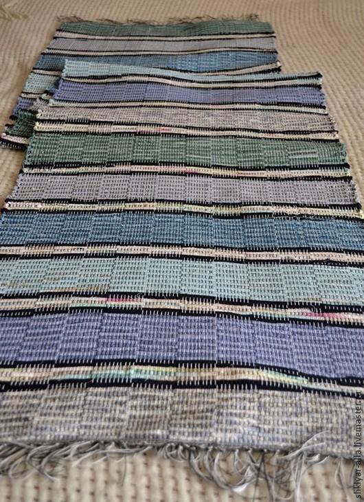 Текстиль, ковры ручной работы. Ярмарка Мастеров - ручная работа. Купить Половик ручного ткачества(№28). Handmade. Синий, ковер