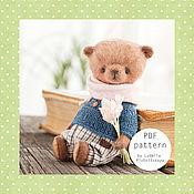 Материалы для творчества ручной работы. Ярмарка Мастеров - ручная работа Выкройка мишки тедди 10 см, выкройка медведя, выкройка игрушки тедди. Handmade.