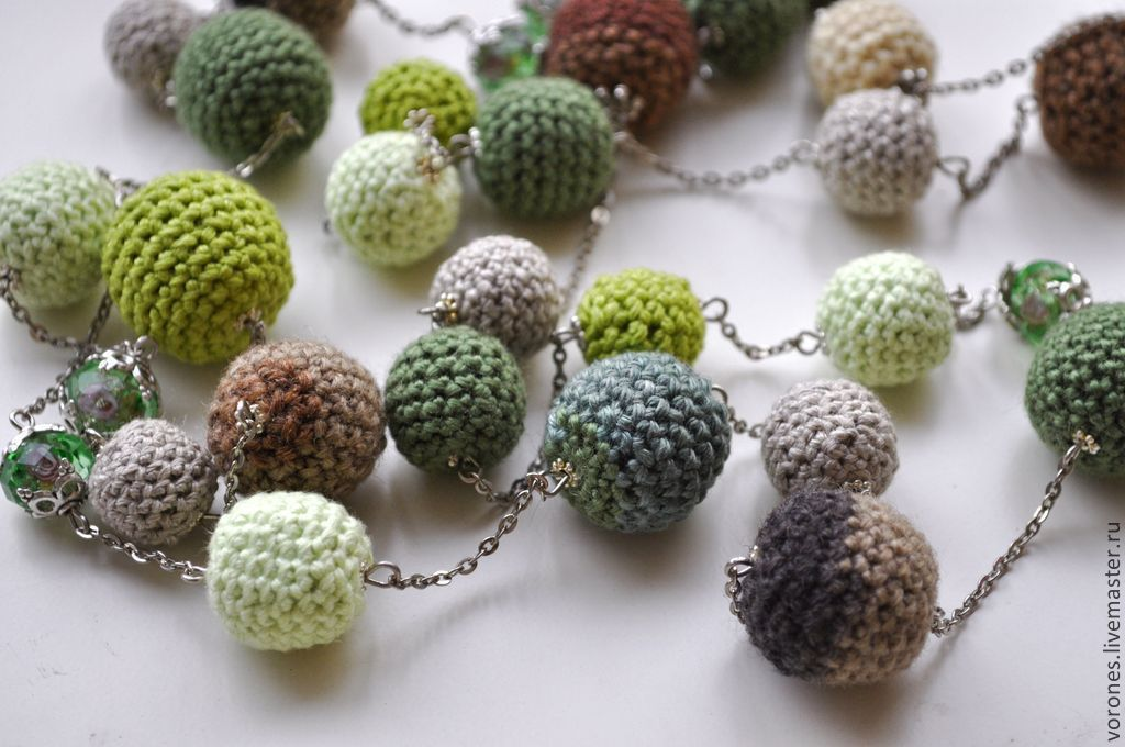 Green beads 'Pistachio', Necklace, Moscow,  Фото №1