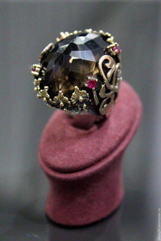 """Кольца ручной работы. Ярмарка Мастеров - ручная работа. Купить Кольцо - перстень """" Абсолю Амбры """". Handmade. Коричневый"""