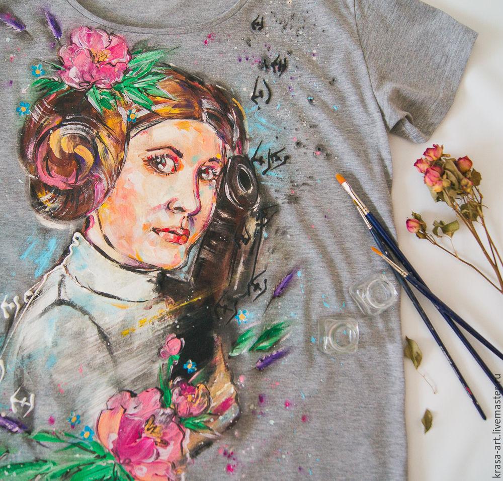 women's t-shirt Princess Leia, T-shirts, Tolyatti, Фото №1