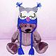 """Шапки и шарфы ручной работы. Ярмарка Мастеров - ручная работа. Купить шапочка """"Совушка"""" (детская шапка сова теплая зимняя с ушками). Handmade."""