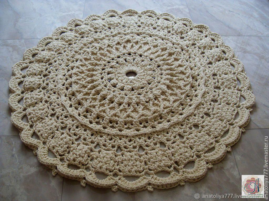 Handmade carpet embossed knitted cord Dream-2, Carpets, Kabardinka,  Фото №1