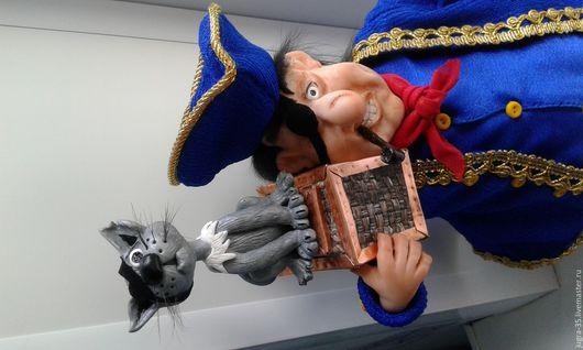 Коллекционные куклы ручной работы. Ярмарка Мастеров - ручная работа. Купить Билли Бонс. Handmade. Тёмно-синий, пиастры, трубка