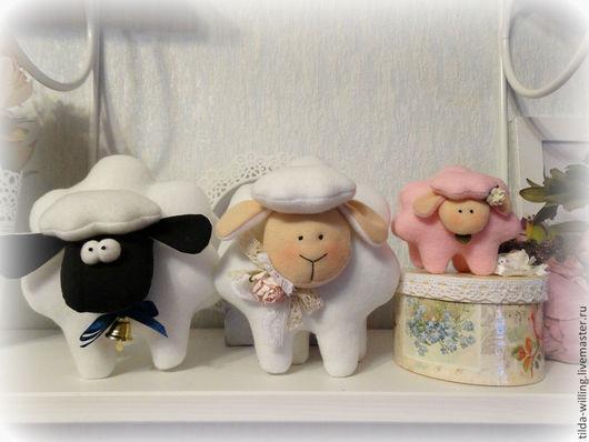 Игрушки животные, ручной работы. Ярмарка Мастеров - ручная работа. Купить Барашки.. Handmade. Барашек, тильда, овечка в подарок, колокольчик