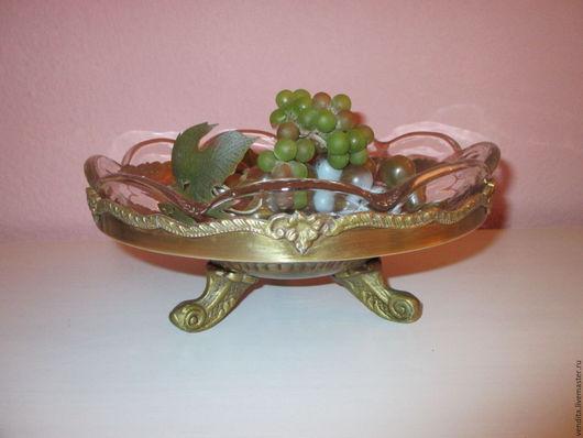Винтажная посуда. Ярмарка Мастеров - ручная работа. Купить Старинная ваза для фруктов. Handmade. Золотой, ваза для конфет, латунная ваза