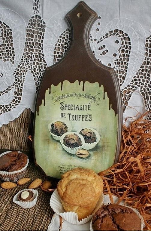 """Кухня ручной работы. Ярмарка Мастеров - ручная работа. Купить доска """"Truffes"""". Handmade. Доска разделочная"""