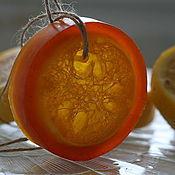 """Мыло ручной работы. Ярмарка Мастеров - ручная работа Мыло-мочалка """"Сочный апельсин"""" с люфой.. Handmade."""