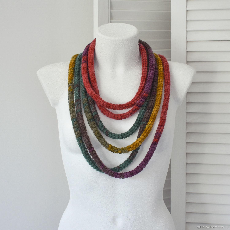 Как сделать шарф колье