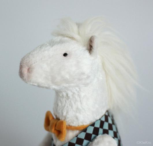 Мишки Тедди ручной работы. Ярмарка Мастеров - ручная работа. Купить Белый пони. Handmade. Белый, пони. Клетчатый Крокодил.
