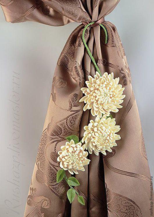 Текстиль, ковры ручной работы. Ярмарка Мастеров - ручная работа. Купить Подхват для штор (цветы из полимерной глины). Handmade. Комбинированный
