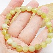 Украшения handmade. Livemaster - original item Jade bracelet Lemon and honey. Handmade.