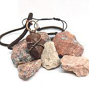 Украшения handmade. Livemaster - original item Stone tip pendant
