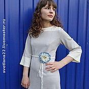 "Одежда handmade. Livemaster - original item Summer knit dress ""In the style of 70s "". Handmade."