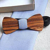 Аксессуары ручной работы. Ярмарка Мастеров - ручная работа Деревянная галстук-бабочка Classic из дерева Зебрано. Handmade.
