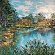 Картины и панно handmade. Livemaster - original item Painting oil on canvas landscape